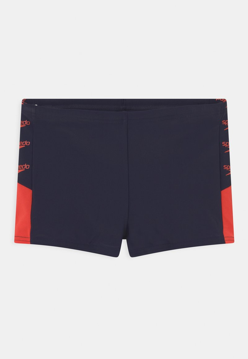 Speedo - BOOM LOGO SPLICE AQUASHORT - Swimming trunks - true navy/dragonfire orange