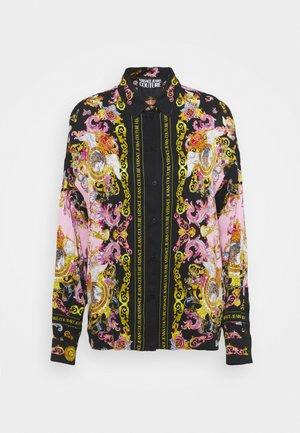 LADY SHIRT - Button-down blouse - black/pink confetti