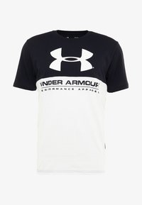Under Armour - PERFORMANCEAPPAREL COLOR BLOCKED  - T-shirts print - black/white - 4