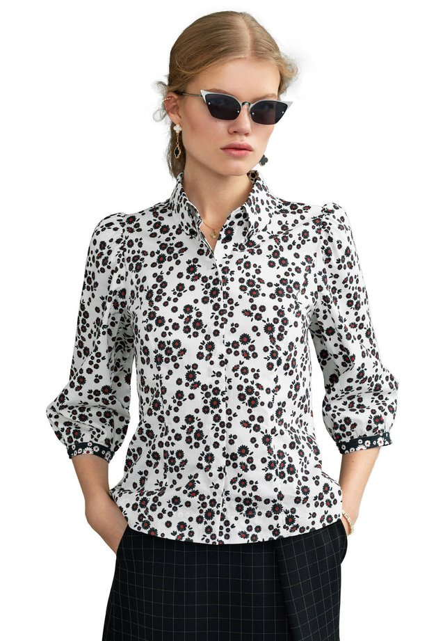 Button-down blouse - weiss (10)