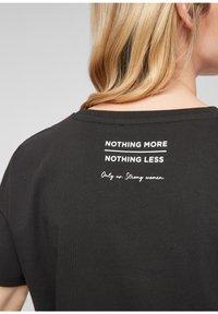 comma - Print T-shirt - black - 3