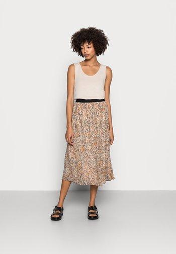 OLETA - A-line skirt - tan combi