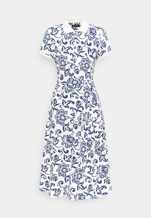 Day dress - white/dark blue