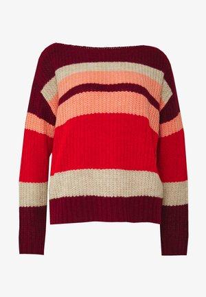 Strikkegenser - multicolor stripes