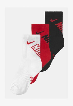 CREW 3 PACK UNISEX - Socks - university red