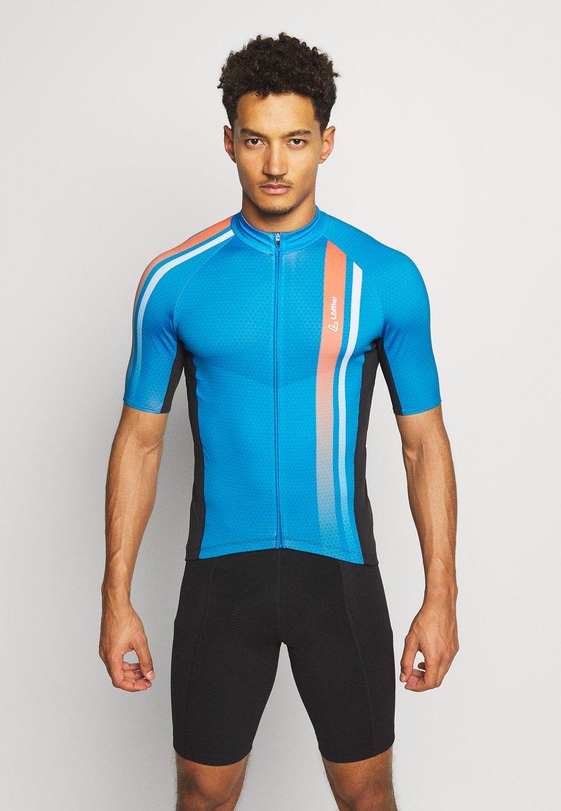 LÖFFLER - BIKE HOTBOND® - Print T-shirt - brillant blue