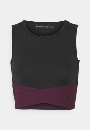 Top - black/purple