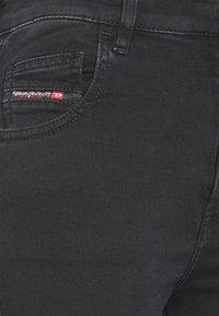 Diesel - SLANDY HIGH - Jeans Skinny Fit - washed black - 2