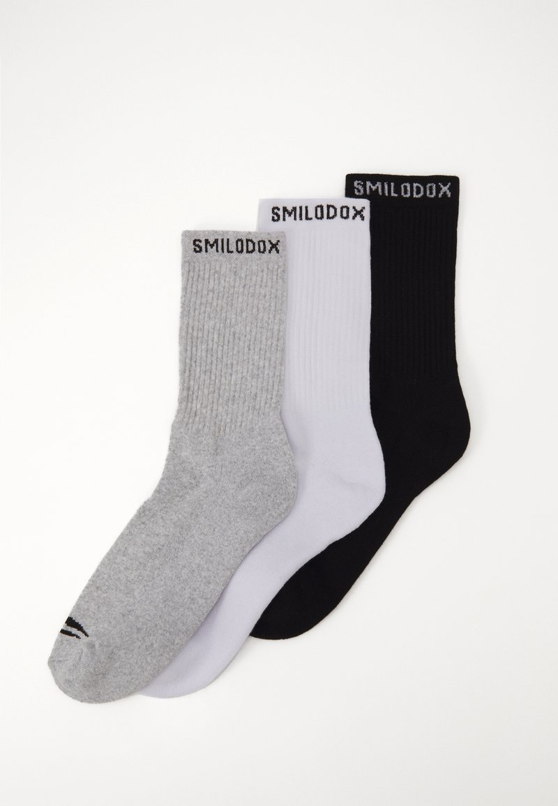 Smilodox - TRAINING SOCKS 3 PACK - Sportovní ponožky - schwarz/weiß