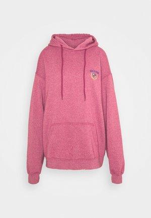 EMBROIDERED LOGO HOODIE - Sweatshirt - red