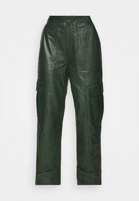 CITRINA TROUSERS - Leather trousers - kambu green