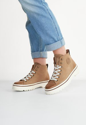 Platform ankle boots - rehbraun 017