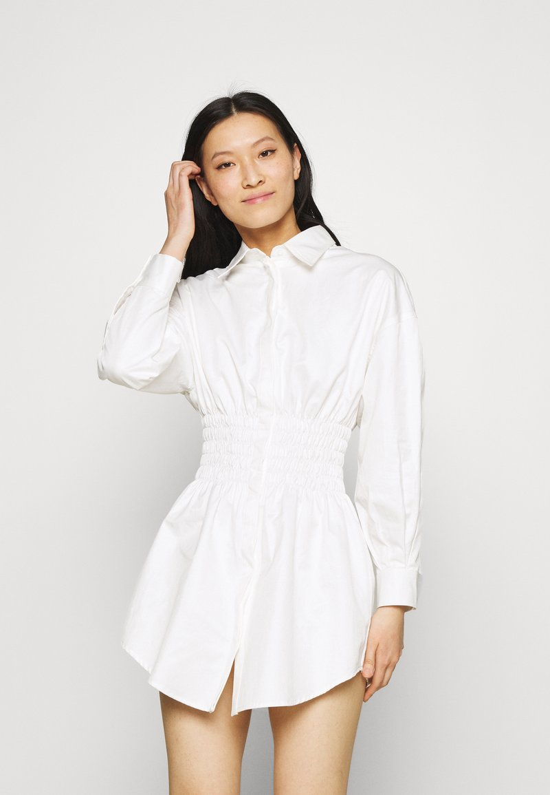Mossman - THE SHADOW DRESS - Shirt dress - white
