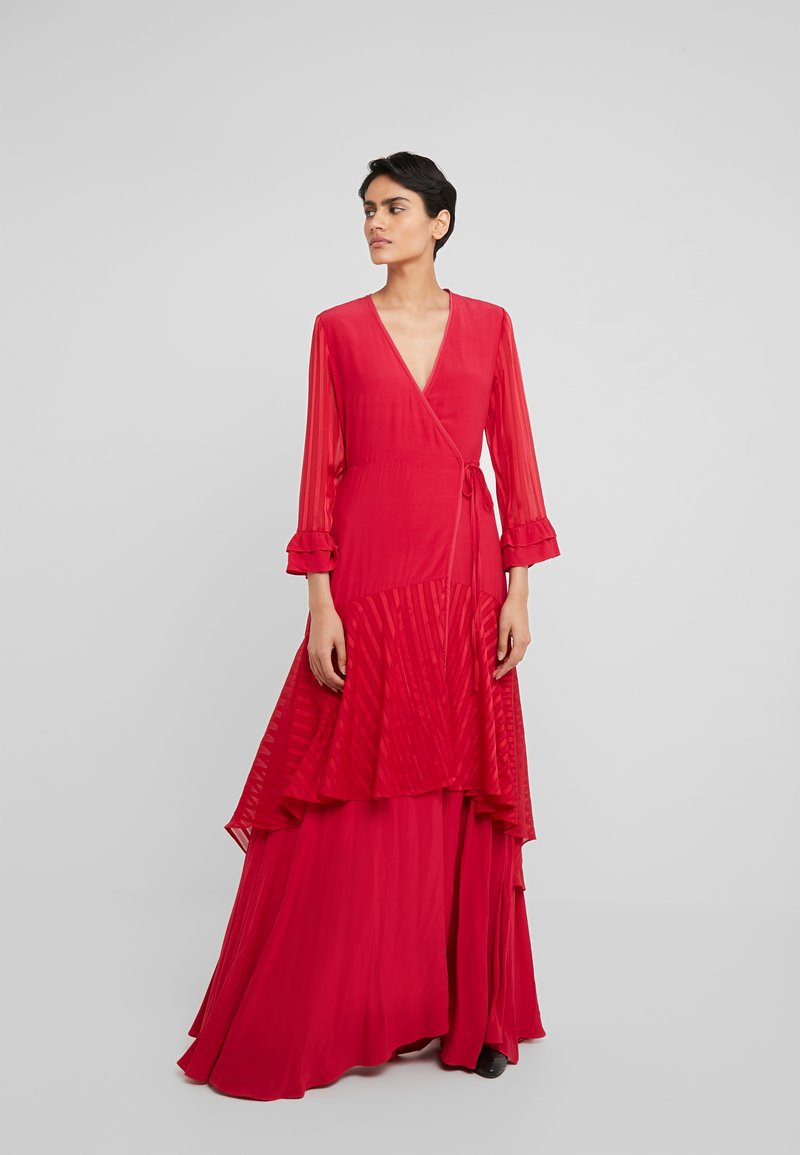 Pinko - ZUCCHERINO ABITO MAROCAINE - Společenské šaty - rosso persiano