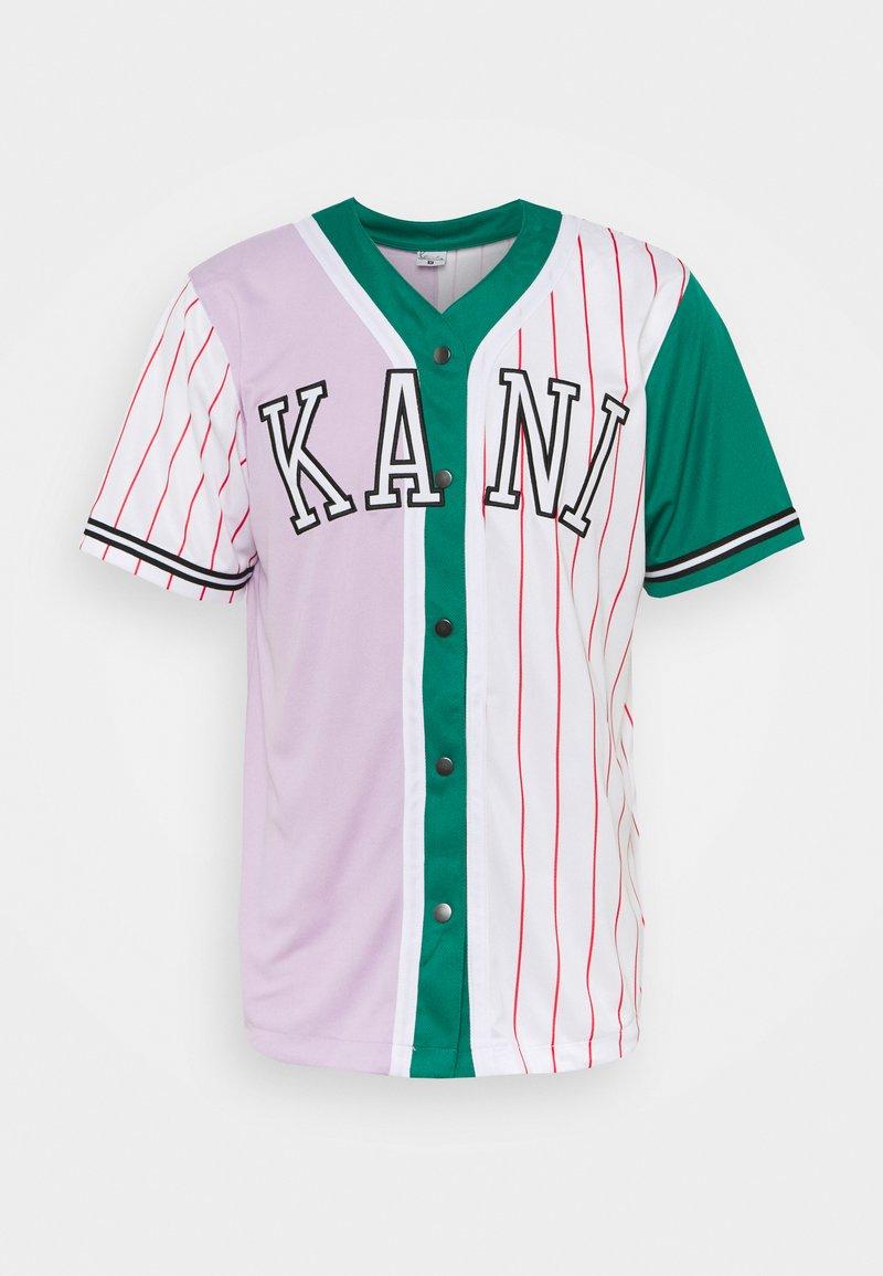Karl Kani - COLLEGE BLOCK PINSTRIPE BASEBALL SHIRT UNISEX - Print T-shirt - lilac