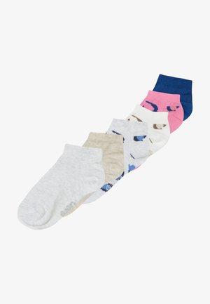 LEOPARD 6 PACK - Ponožky - tinte/grau/weiß