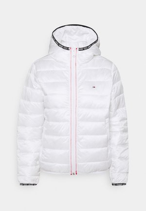 QUILTED HOODED JACKET - Light jacket - white