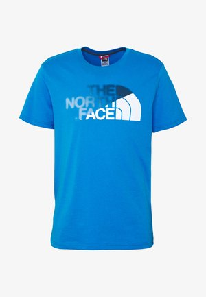 T-shirt print - clear lake blue/white