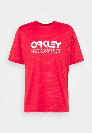 PIPELINE TRAIL TEE - Print T-shirt - red