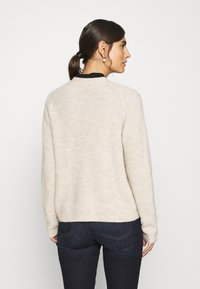 Marc O'Polo - CARDIGAN LONGSLEEVE SADDLE SHOULDER BUTTON CLOSURE - Cardigan - sandy melange - 2