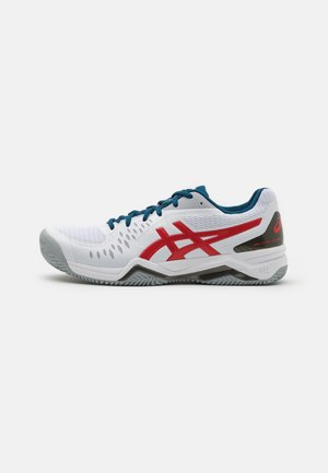 GEL-CHALLENGER 12 CLAY - Clay court tennis shoes - white/classic red