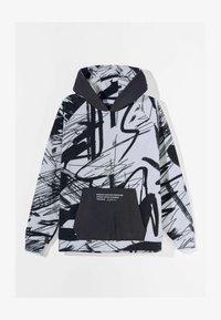 Bershka - MIT KAPUZE UND POLAR-PRINT - Bluza z kapturem - dark grey - 4