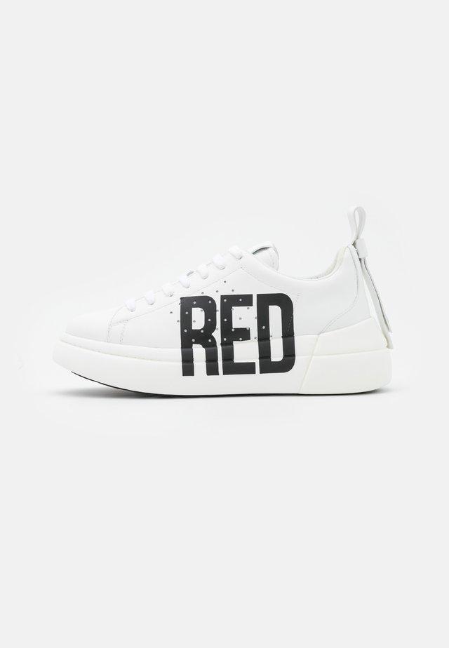 Sneakers laag - bianco/nero