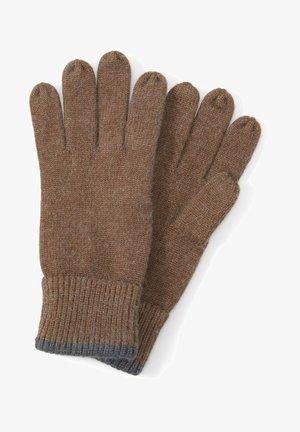 MIT LOGO-BADGE - Gloves - brown oak melange