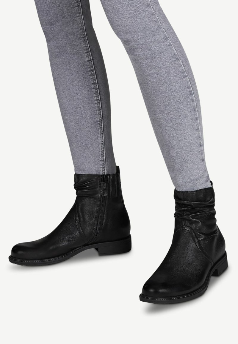 Tamaris - Kotníková obuv - black/black
