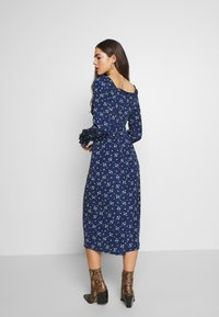 Missguided - BUTTON MILKMAID MIDI DRESS FLORAL - Kjole - navy - 3