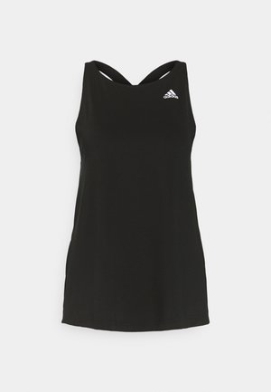 AEROREADY PRIMEGREEN TRAINING SPORTS TANK - Sports shirt - black/white