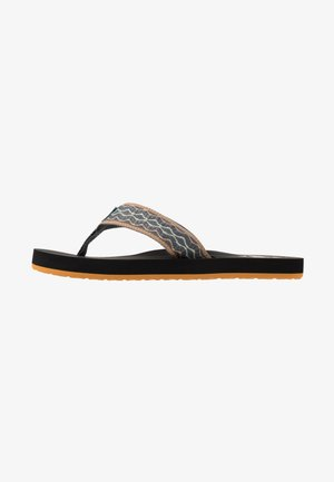 SMOOTHY - T-bar sandals - grey/green