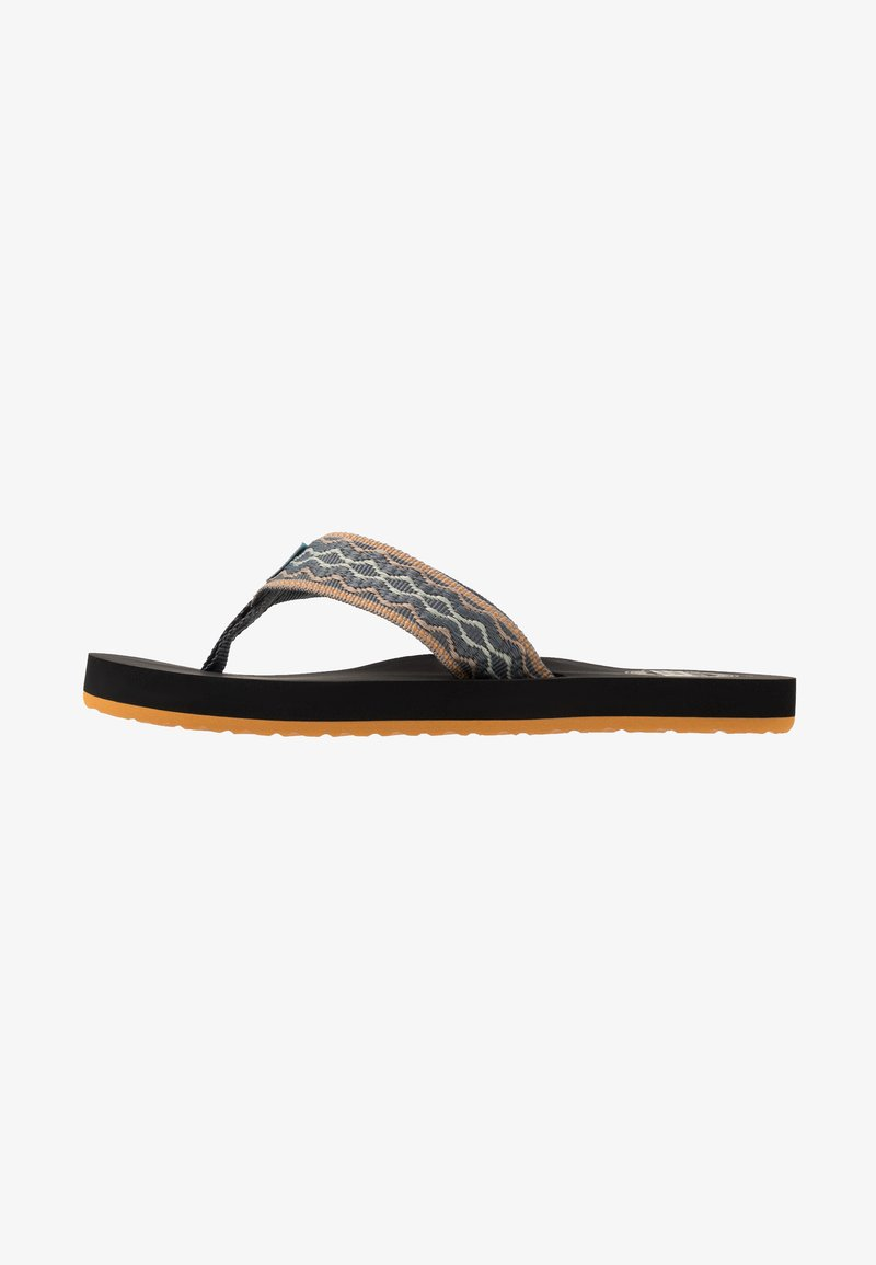 Reef - SMOOTHY - T-bar sandals - grey/green