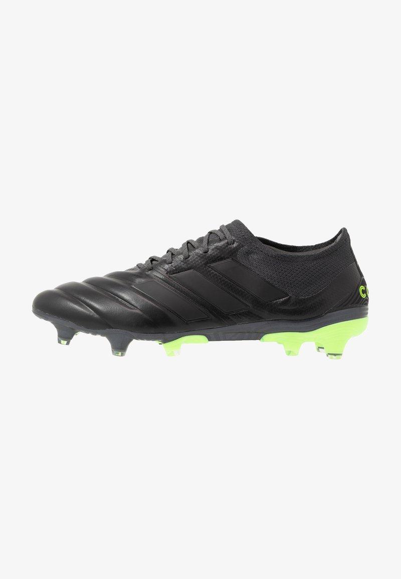 adidas Performance - COPA 20.1 FOOTBALL FIRM GROUND - Fotbollsskor fasta dobbar - core black/signal green