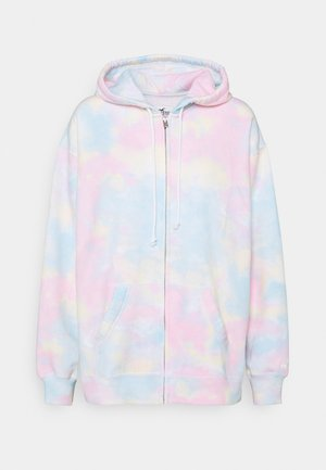 Zip-up hoodie - blue pattern