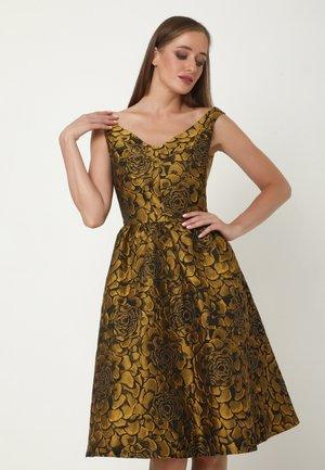 ALLTAGS DANAY - Cocktail dress / Party dress - schwarz, senf