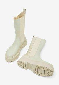 Bianco - BIADEB LONG BOOT - Platform boots - ice - 3