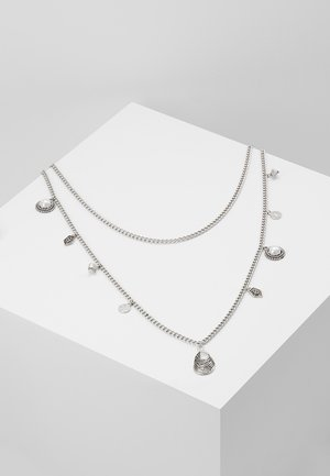 PEARL AND SHEL MULTI LAYER 2 PACK - Collana - silver-coloured