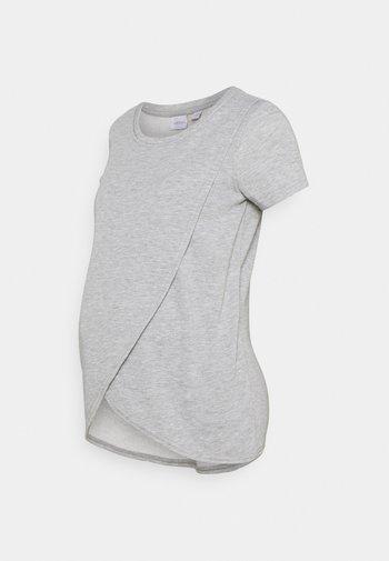 MLCHRISTIANE IRIS - T-shirt basic - medium grey melange
