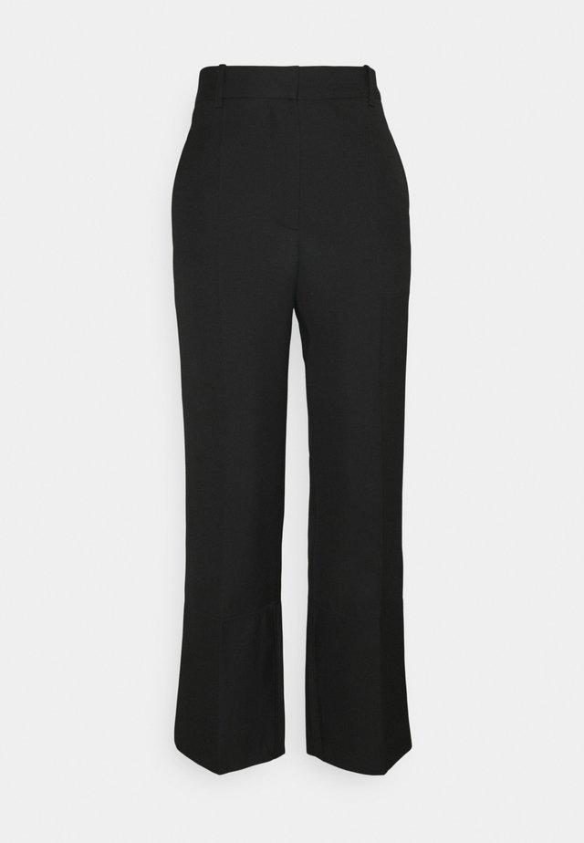 STRAIGHT LEG TROUSER WITH TURN UP - Kalhoty - black