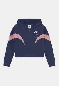 Nike Sportswear - AIR  - Sudadera con cremallera - midnight navy/pink glaze/white - 0