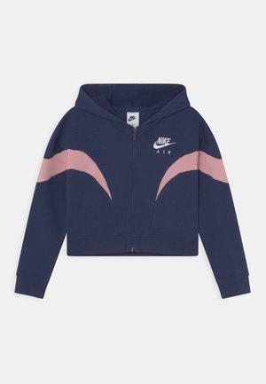 AIR  - Felpa con zip - midnight navy/pink glaze/white