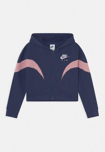 AIR  - Zip-up sweatshirt - midnight navy/pink glaze/white