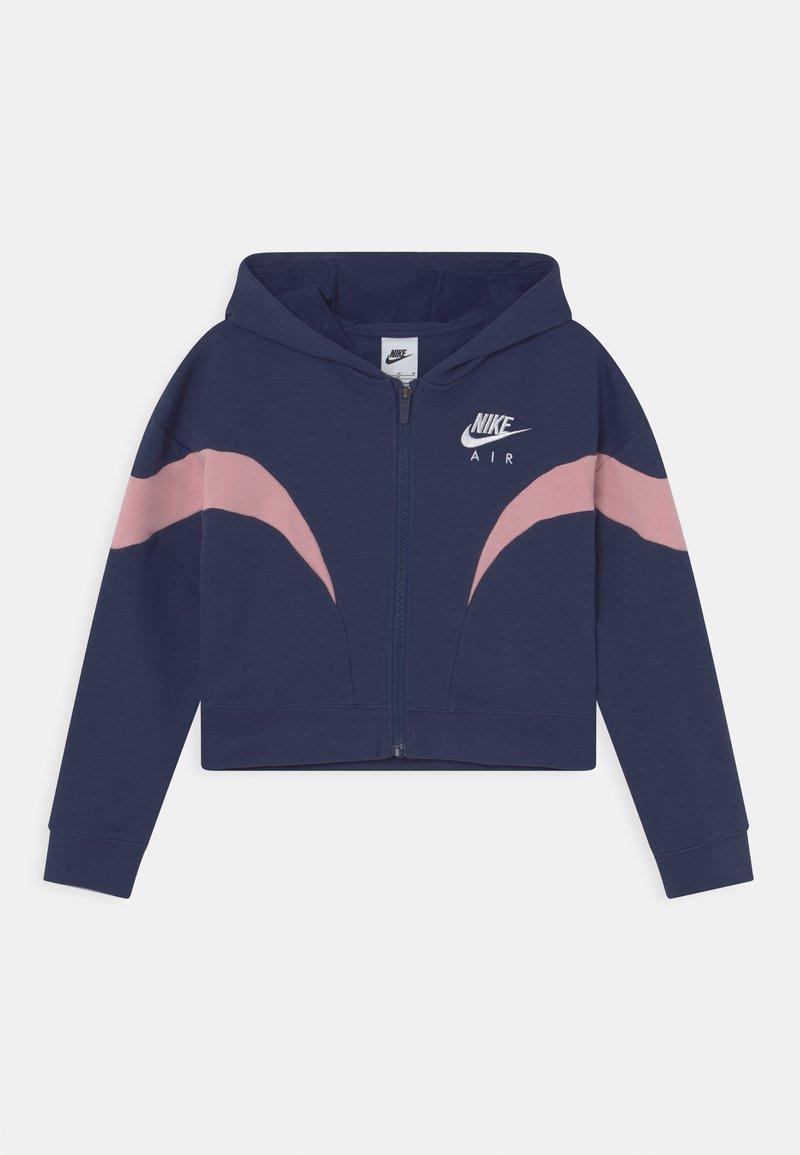 Nike Sportswear - AIR  - Sudadera con cremallera - midnight navy/pink glaze/white