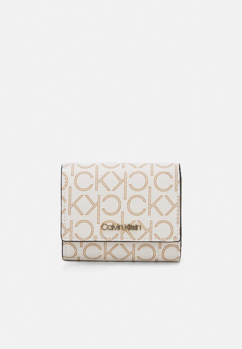 Calvin Klein - TRIFOLD XS MONOGRAM - Wallet - white