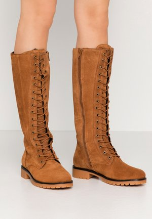 BOOTS - Lace-up boots - brown