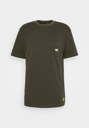 BASIC POCKET - Basic T-shirt - army