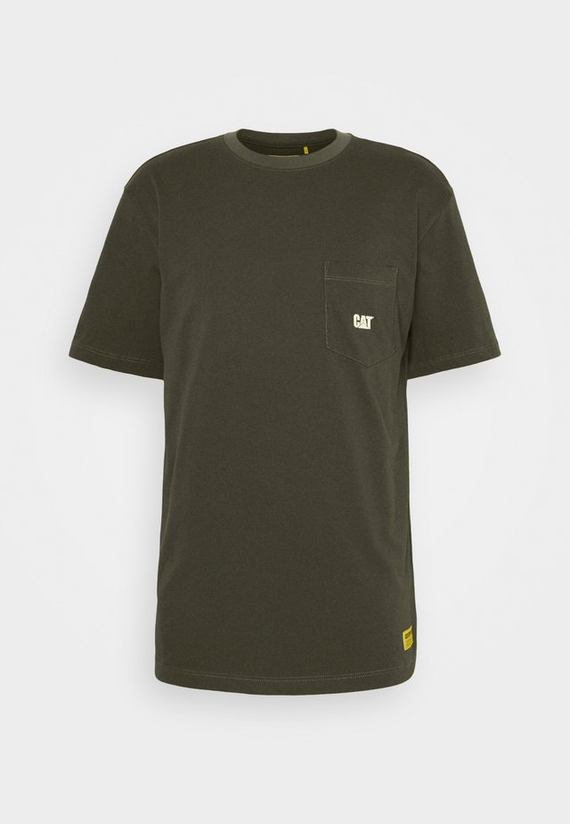 BASIC POCKET - T-paita - army