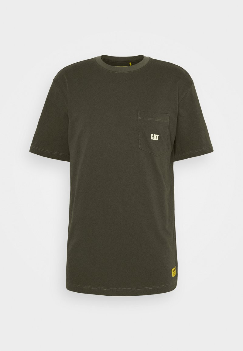 Caterpillar - BASIC POCKET - Basic T-shirt - army