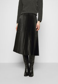 Opus - RURY - Pleated skirt - black - 0